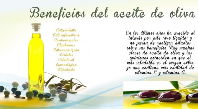 beneficios sobre el aceite de oliva
